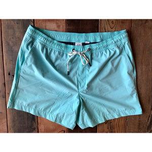 GAP Swim Trunks in Solid Turquoise